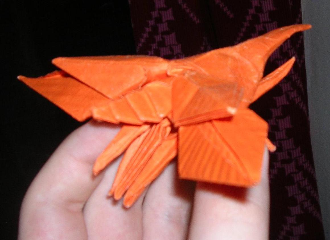 схема жука геркулеса оригами