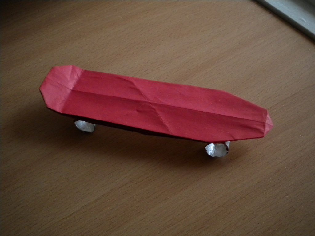 Как сделать из бумаги сделать скейт