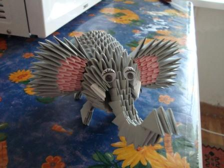 Модульная оригами заяц схема.