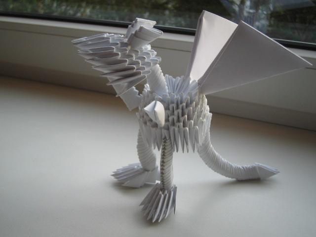 дракон модульное оригами описание. оригами вазы.