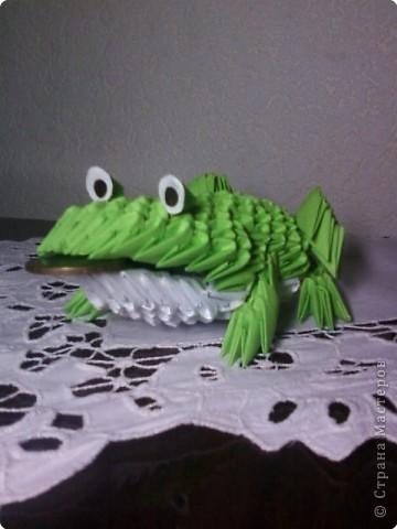 Модульное оригами - Друг лягушонка.
