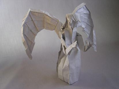 оригами ангел схема.
