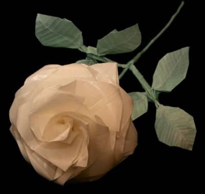 Оригами роза схема - Оригами
