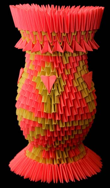 Ваза оригами схема делаем