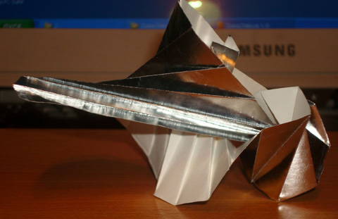 """Поделки из бумаги своими руками. .  Максим к посту Оригами для детей  """"Пассажирский самолет """".  Жёский самик!"""