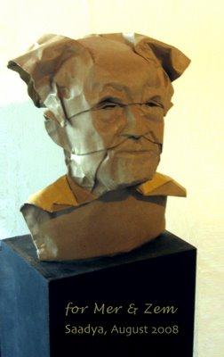 David Ben Gurion. Origami